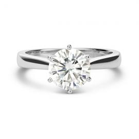 $847.99 - 14k Gold 1 7/8ct DEW Round Forever Brilliant Moissanite Solitaire Ring (Was $1699)