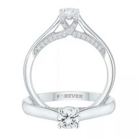 18ct White Gold 1/2ct Forever Diamond Ring - £1154.10