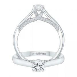 18ct White Gold 1/2ct Forever Diamond Ring - £1154.10